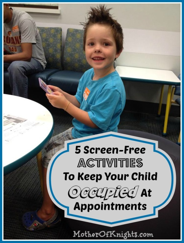 5 Screen-Free Activities To Keep Your Child Occupied At Appointments